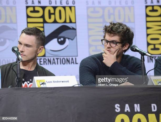 Actors Sam Underwood and Daniel Sharman speak onstage at ComicCon International 2017 AMC's 'Fear The Walking Dead' Panel at San Diego Convention...