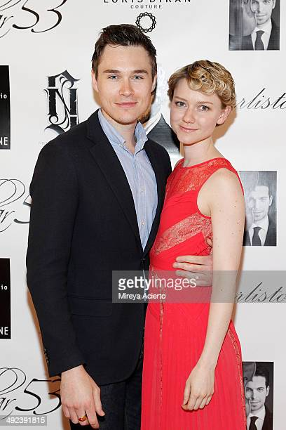 Actors Sam Underwood and Valorie Curry attend the grand opening of Christo Fifth Ave on May 19 2014 in New York City