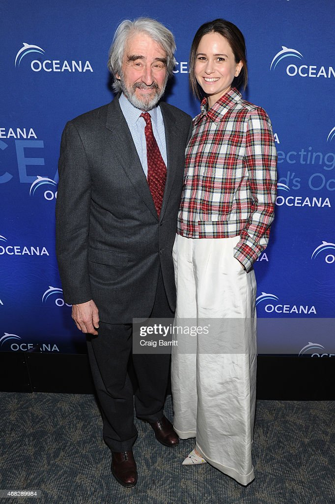 Actors Sam Waterston and Katherine Waterston attend Oceana's 2015 New York City benefit at Four Seasons Restaurant on April 1 2015 in New York City