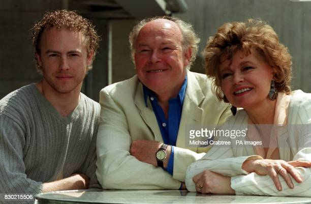 Actors Sam West his father Timothy West and his mother Prunella Scales during a photocall in London to launch BBC Radio 3's four year project of...
