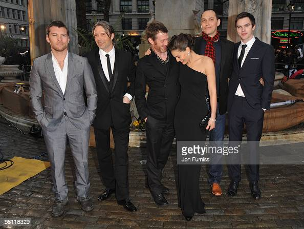 Actors Sam Worthington Mads Mikkelsen Jason Flemyng Alexa Davalos director Louis Letterier and actor Nicolas Hoult attend the 'Clash Of The Titans'...