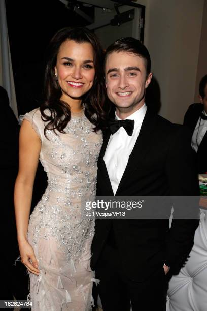 Actors Samantha Barks and Daniel Radcliffe attend the 2013 Vanity Fair Oscar Party hosted by Graydon Carter at Sunset Tower on February 24 2013 in...