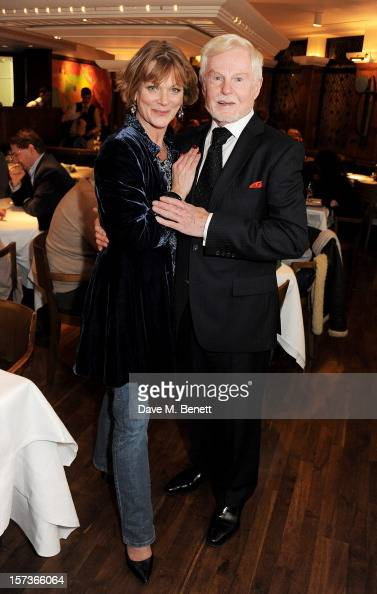 Actors Samantha Bond working as a hostess and Sir Derek Jacobi working as Maitre D' attend One Night Only at The Ivy featuring 30 stage and screen...