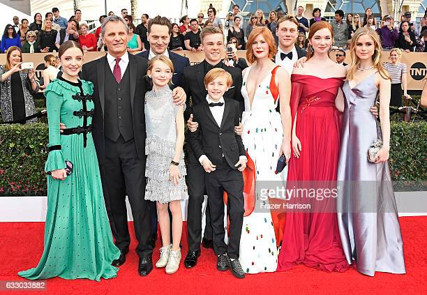 Actors Samantha Isler Viggo Mortensen Matt Ross Shree Crooks Nicholas Hamilton Charlie Shotwell Trin Miller George MacKay Annalise Basso and Erin...