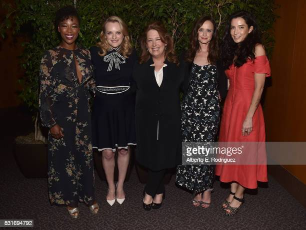 Actors Samira Wiley Elisabeth Moss Ann Dowd Alexis Bledel and director Reed Morano attend the after party for the FYC event for Hulu's 'The...