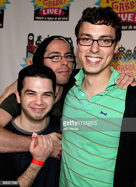 ACCESS*** Actors Samm Levine Martin Starr and John Francis Daley attend the first ever Yo Gabba Gabba 'There's A Party In My City' live performance...