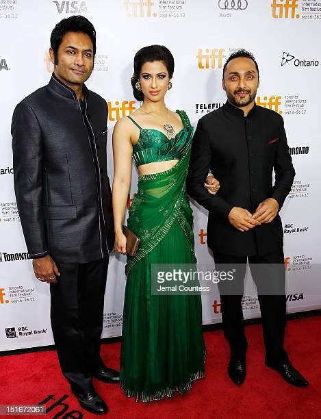 Actors Samrat Chakrabarti Anita Majumdar and Rahul Bose arrive at the 'Midnight's Children' Premiere at the 2012 Toronto International Film Festival...