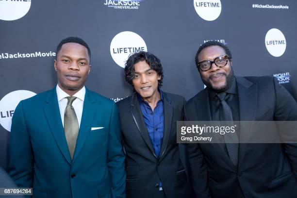 Actors Samuel Adegoke Navi and Chad L Coleman arrive at the Lifetime Hosts Fan Gala And Advance Screening For 'Michael Jackson Searching For...