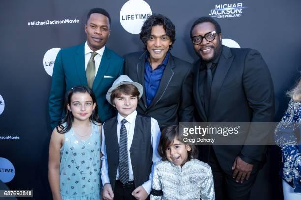 Actors Samuel Adegoke Navi and Chad L Coleman Taegen Burns Aidan Smith and Michael Mourra arrive at the Lifetime Hosts Fan Gala And Advance Screening...