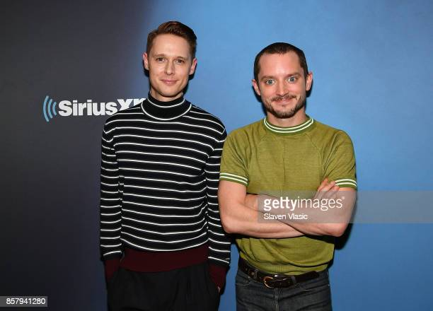 Actors Samuel Barnett and Elijah Wood visit SiriusXM Studios on October 5 2017 in New York City