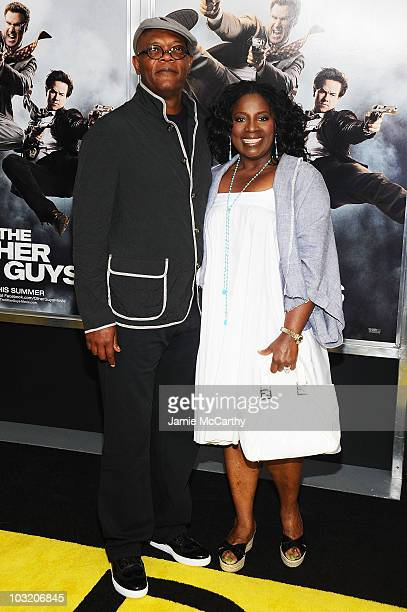 Actors Samuel L Jackson and LaTanya Richardson attend the premiere of 'The Other Guys' at the Ziegfeld Theatre on August 2 2010 in New York City