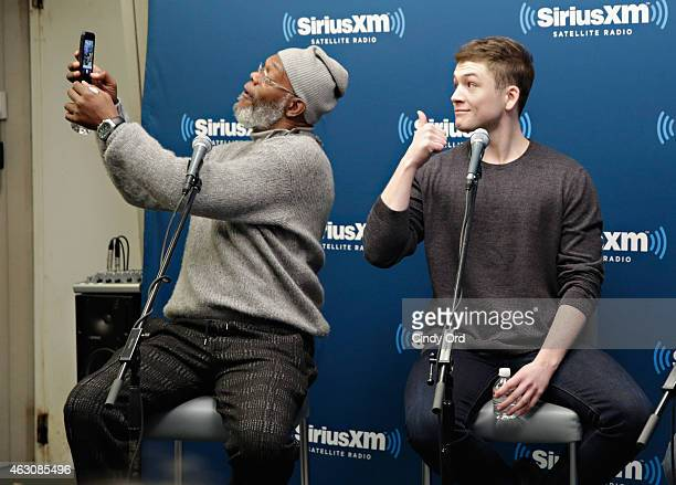 Actors Samuel L Jackson and Taron Egerton take part in SiriusXM's Entertainment Weekly Radio 'Kingsman The Secret Service' Special with Samuel L...