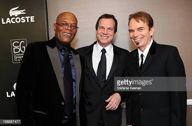 Actors Samuel L Jackson Bill Paxton and Billy Bob Thornton pose at the 13th Annual Costume Designers Guild Awards with presenting sponsor Lacoste...