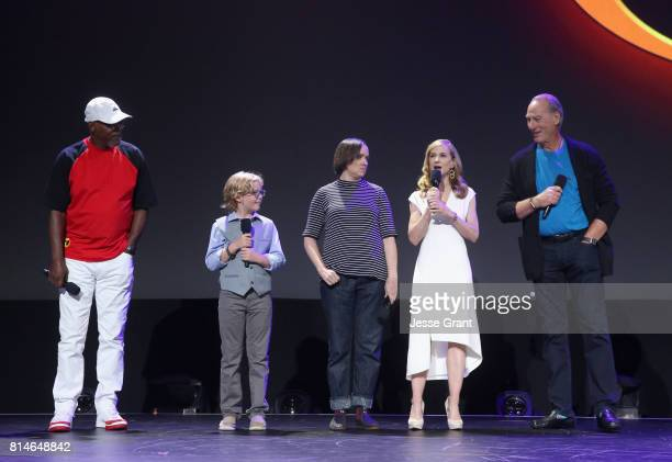 Actors Samuel L Jackson Huck Milner Sarah Vowell Holly Hunter and Craig T Nelson of INCREDIBLES 2 took part today in the Walt Disney Studios...