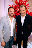Actors Samuel Le Bihan and Samuel Labarthe attends the 'Vivement Dimanche' French TV Show at Pavillon Gabriel on December 21 2015 in Paris France