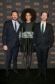 Actors Samuel Le Bihan Stefi Celma and Thibault de Montalembert attend the 'GQ Men Of The Year Awards 2015' as part of Paris Fashion Week on January...