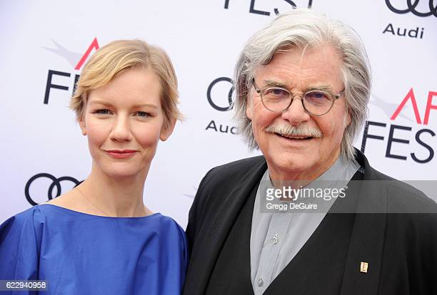 Actors Sandra Huller and Peter Simonischek arrive at the AFI FEST 2016 Presented By Audi Screening Of Sony Pictures Classic's 'Toni Erdmann' at the...