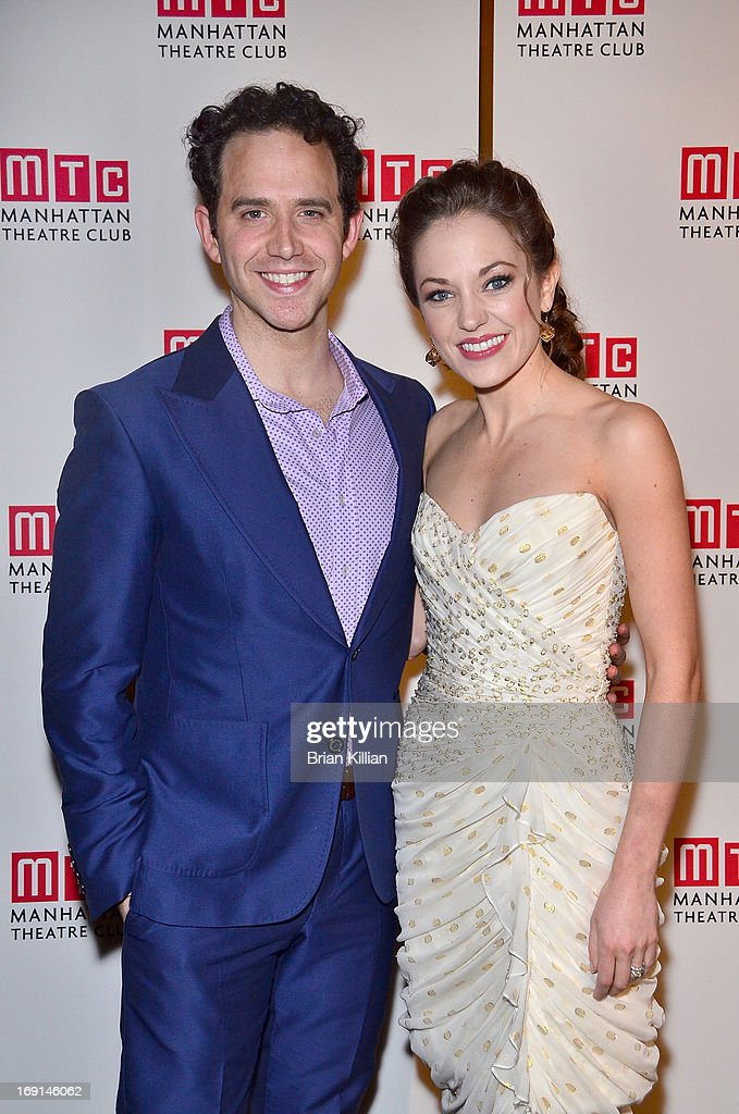 Actors Santino Fontana and <a gi-track='captionPersonalityLinkClicked' href=/galleries/search?phrase=Laura+Osnes&family=editorial&specificpeople=4213655 ng-click='$event.stopPropagation()'>Laura Osnes</a> attend Manhattan Theatre Club 2013 Spring Gala at Cipriani 42nd Street on May 20, 2013 in New York City.