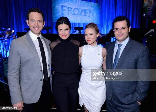 Actors Santino Fontana Idina Menzel Kristen Bell and Josh Gad attend The Celebration Of The Music Of Disney's 'Frozen' FOR THE FIRST TIME IN FOREVER...