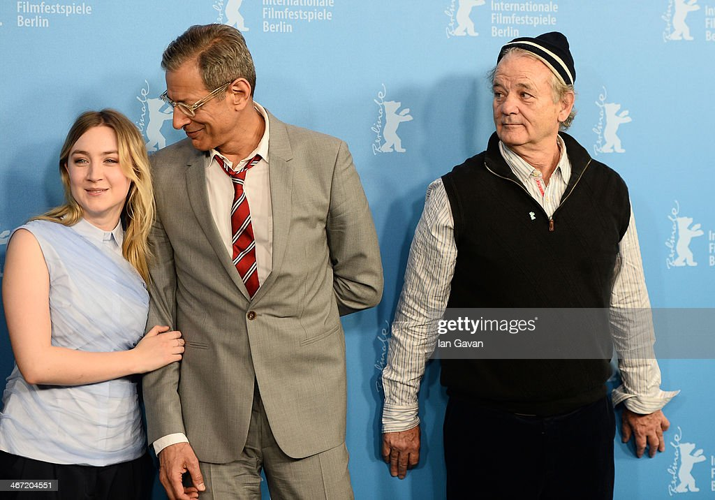 Actors Saoirse Ronan, Jeff Goldblum and Bill Murray attend 'The Grand Budapest Hotel' photocall during 64th Berlinale International Film Festival at Grand Hyatt Hotel on February 6, 2014 in Berlin, Germany.