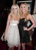 Actors Sara Paxton and Amanda Bynes pose at the premiere of Universal Pictures and Morgan Creek Production's 'Sydney White' at the Mann Bruin Theatre...