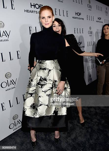 Actors Sara Raftery and Abigail Spencer attend ELLE's 6th Annual Women in Television Dinner Presented by Hearts on Fire Diamonds and Olay at Sunset...