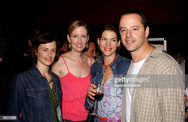 Actors Sarah Clarke Janel Moloney Rya Kihlstedt and Gil Bellows pose at Cure Autism Now's 'Acts of Love' after party at Mastro's Steak House on...