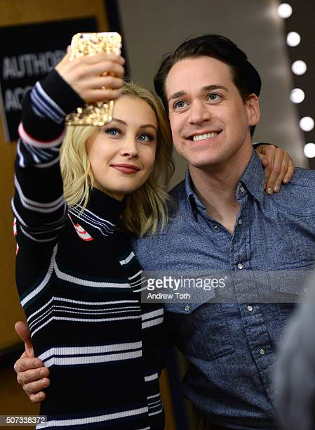 Actors Sarah Gadon and TR Knight attend the '112263' Sundance premiere on January 28 2016 in Park City Utah
