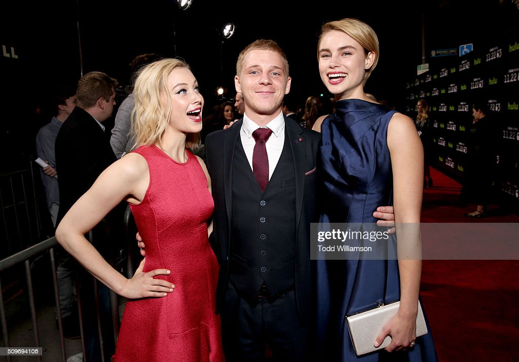 Actors <a gi-track='captionPersonalityLinkClicked' href=/galleries/search?phrase=Sarah+Gadon&family=editorial&specificpeople=6606524 ng-click='$event.stopPropagation()'>Sarah Gadon</a>, <a gi-track='captionPersonalityLinkClicked' href=/galleries/search?phrase=Daniel+Webber+-+Actor&family=editorial&specificpeople=15185137 ng-click='$event.stopPropagation()'>Daniel Webber</a> and <a gi-track='captionPersonalityLinkClicked' href=/galleries/search?phrase=Lucy+Fry&family=editorial&specificpeople=11673695 ng-click='$event.stopPropagation()'>Lucy Fry</a> attend the Hulu Original '11.22.63' premiere at the Regency Bruin Theatre on February 11, 2016 in Los Angeles, California.