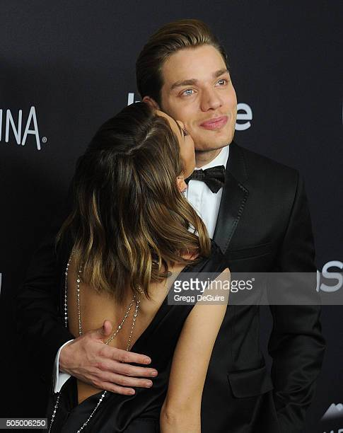 Actors Sarah Hyland and Dominic Sherwood arrive at the 2016 InStyle And Warner Bros 73rd Annual Golden Globe Awards PostParty at The Beverly Hilton...