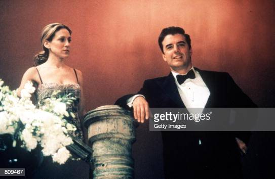 Actors Sarah Jessica Parker and Chris Noth act in a scene from the HBO television series 'Sex and the City' third season episode 'Drama Queen'