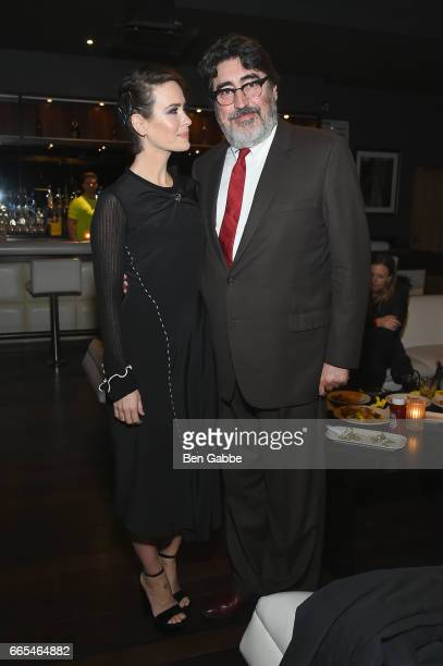 Actors Sarah Paulson and Alfred Molina attend 8th Annual FX AllStar bowling party at Lucky Strike on April 6 2017 in New York City