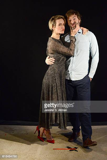 Actors Sarah Paulson and Mark Duplass are photographed for Los Angeles Times on October 6 2016 in New York City