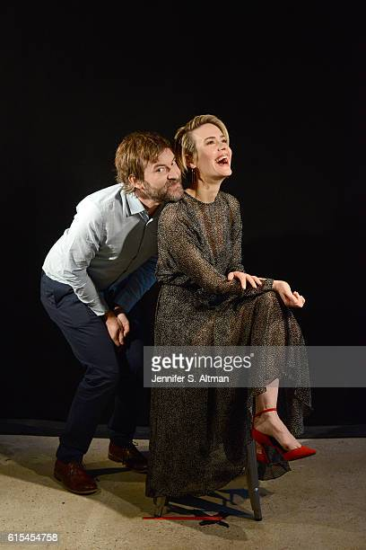 Actors Sarah Paulson and Mark Duplass are photographed for Los Angeles Times on October 6 2016 in New York City PUBLISHED IMAGE