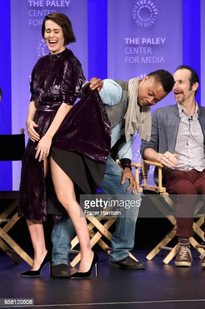 Actors Sarah Paulson Cuba Gooding Jr Denis O'Hare attend The Paley Center For Media's 34th Annual PaleyFest Los Angeles 'American Horror Story...