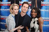 Actors Sarah Paulson Matt Bomer and Angela Bassett attend SiriusXM's Entertainment Weekly Radio Channel Broadcasts From ComicCon 2015 at Hard Rock...