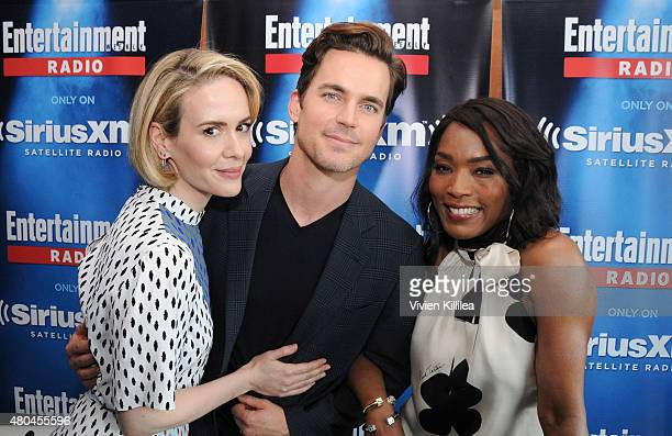 Actors Sarah Paulson Matt Bomer and Angela Bassett attend SiriusXM's Entertainment Weekly Radio Channel Broadcasts From ComicCon 2015 at Hard Rock...