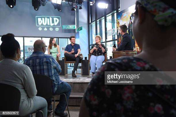 Actors Sarah Ramos and Francois Arnaud and author Charlaine Harris visit the Build Series to discuss the new TV series 'Midnight Texas' at Build...