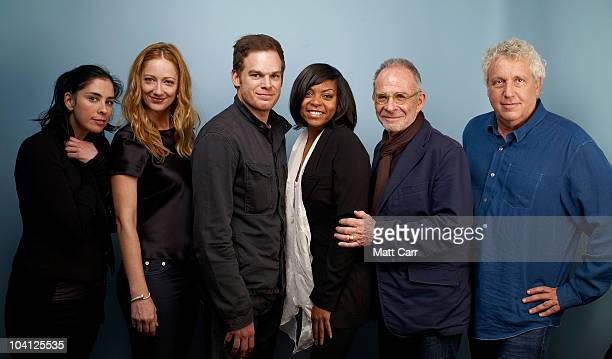 Actors Sarah Silverman Judy Greer Michael C Hall Taraji P Henson actor Ron Rifkin and director Barry Blaustein from 'Peep World' pose for a portrait...