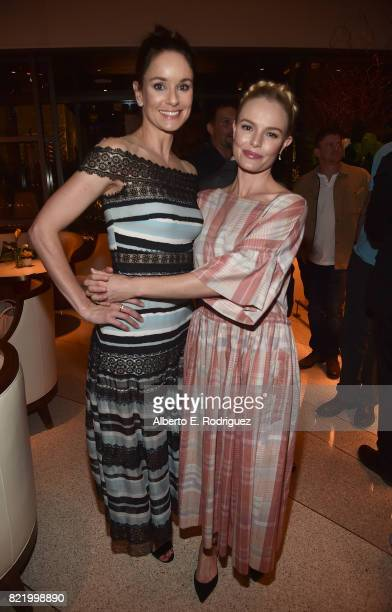 Actors Sarah Wayne Callies and Kate Bosworth attend the 2017 Summer TCA Tour National Geographic Party at The Waldorf Astoria Beverly Hills on July...