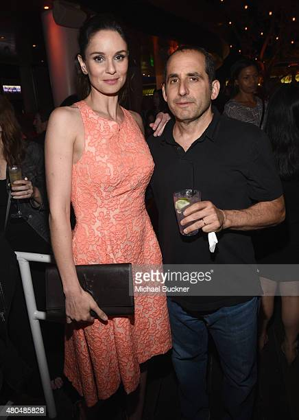 Actors Sarah Wayne Callies and Peter Jacobson attend Entertainment Weekly's ComicCon 2015 Party sponsored by HBO Honda Bud Light Lime and Bud Light...