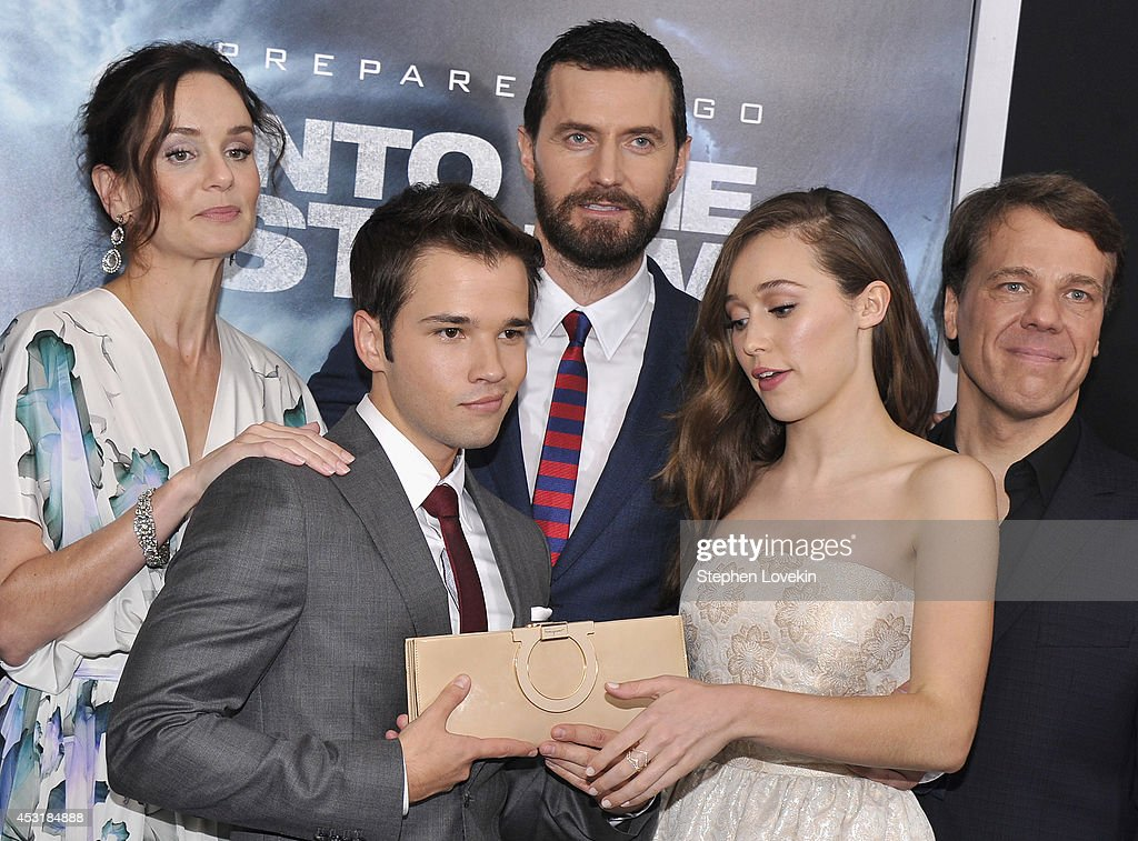 Actors Sarah Wayne Callies, Nathan Kress, Richard Armitage, Alycia Debnam Carey and director Steven Quale attend the 'Into The Storm' premiere at AMC Lincoln Square Theater on August 4, 2014 in New York City.