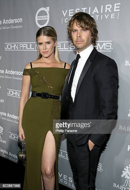 Actors Sarah Wright and Eric Christian Olsen attend the Fifth Annual Baby2Baby Gala Presented By John Paul Mitchell Systems at 3LABS on November 12...