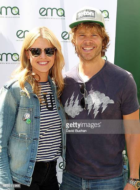 Actors Sarah Wright and Eric Christian Olsen attends The Environmental Media Association firstever Sustainable Earth Month Celebration in honor of...