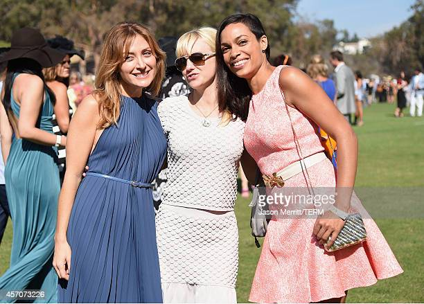 Actors Sasha Alexander Anna Faris and Rosario Dawson attend the FifthAnnual Veuve Clicquot Polo Classic at Will Rogers State Historic Park on October...