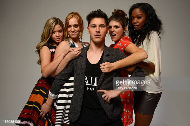Actors Sasha Pieterse Andrea Bowen Michael J Willett Molly Tarlov and Xosha Roquemore of the film 'GBF' attends the Tribeca Film Festival 2013...