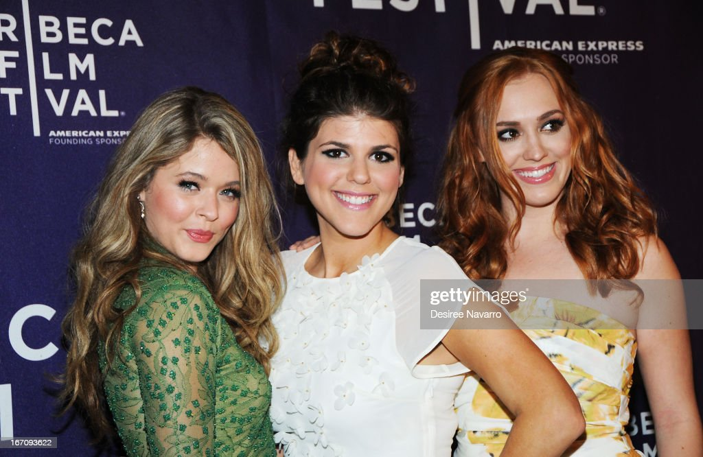 Actors <a gi-track='captionPersonalityLinkClicked' href=/galleries/search?phrase=Sasha+Pieterse&family=editorial&specificpeople=2237740 ng-click='$event.stopPropagation()'>Sasha Pieterse</a>, Molly Tarlov and <a gi-track='captionPersonalityLinkClicked' href=/galleries/search?phrase=Andrea+Bowen&family=editorial&specificpeople=212969 ng-click='$event.stopPropagation()'>Andrea Bowen</a> attend the screening of 'G.B.F.' during the 2013 Tribeca Film Festival at Chelsea Clearview Cinemas on April 19, 2013 in New York City.