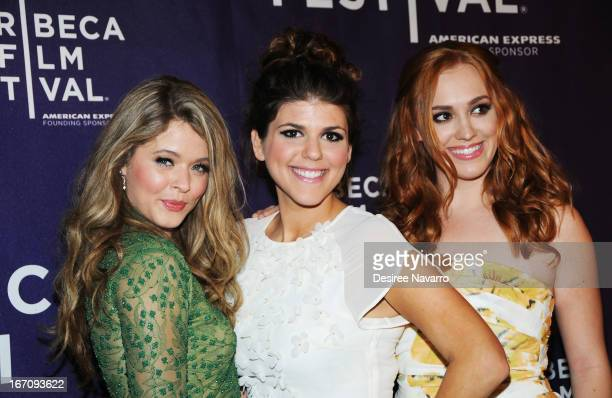Actors Sasha Pieterse Molly Tarlov and Andrea Bowen attend the screening of 'GBF' during the 2013 Tribeca Film Festival at Chelsea Clearview Cinemas...