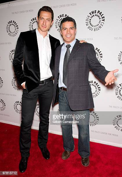 Actors Sasha Roiz and Esai Morales attend the screening of 'Caprica' at The Paley Center for Media on March 17 2010 in New York New York