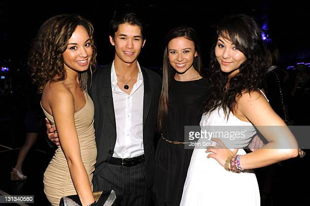 Actors Savannah Jayde Booboo Stewart Malese Jow and Fivel Stewart attend the 2011 Young Hollywood Awards presented by Bing at Club Nokia on May 20...